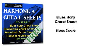 Blues Harp Cheat Sheet Blues Scale Harmonica Tabs