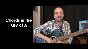 Guitar Chords in the Key of A
