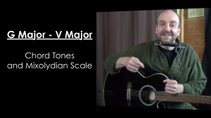 G Major (V Major) Chord Tones and the Mixolydian Mode