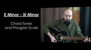 E Minor (iii Minor) Chord Tones and Phrygian Mode
