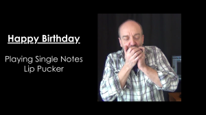 Happy Birthday single notes exercise
