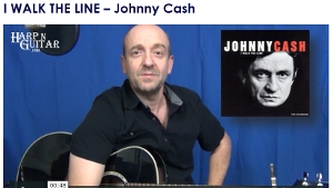 Johnny Cash - I Walk The Line - E or F Harp