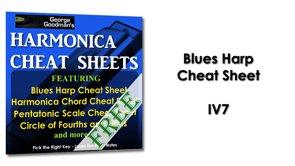 Blues Harp Cheat Sheet IV7 Harmonica Tabs