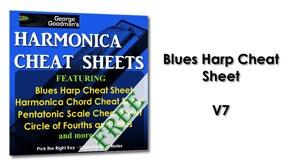 Blues Harp Cheat Sheet V7 Harmonica Tabs