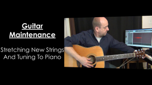 Tuning and Stretching Guitar Strings