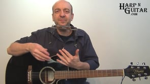 Offbeat Blues Rhythm With Harmonica Chords